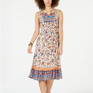 NWT Style & Co Sleeveless Midi Floral Dress Large